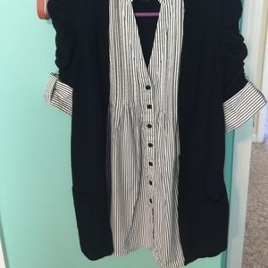INC International Concepts Tops - EUC INC shirt with attached duster, size S